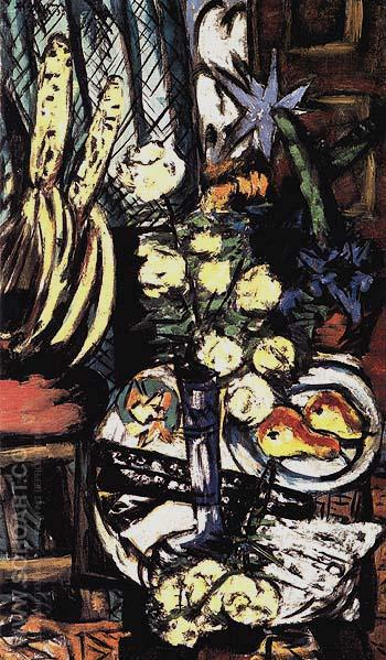 Still Life with Yellow Roses 1937 - Max Beckmann reproduction oil painting