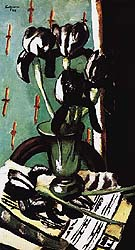 Black Iris 1928 - Max Beckmann reproduction oil painting