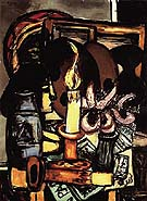 Woman in Front of a Mirror with Orchids 1947 - Max Beckmann reproduction oil painting