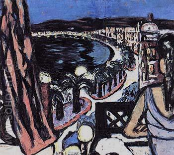 Promenade des Anglais in Nice 1947 - Max Beckmann reproduction oil painting