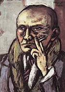 Self Portrait with Cigarette 1947 - Max Beckmann reproduction oil painting