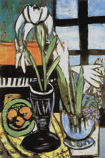 Still Life with Irises 1949 - Max Beckmann reproduction oil painting