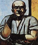 Self Portrait in Gloves 1948 - Max Beckmann reproduction oil painting