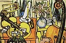 Still Life with Cello and Double Bass 1950 - Max Beckmann reproduction oil painting