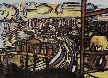San Francisco 1950 - Max Beckmann reproduction oil painting