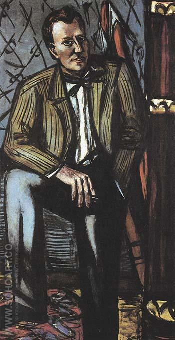 Portrait of Perry T Rathbone 1948 - Max Beckmann reproduction oil painting