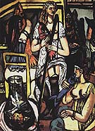 Fisherwoman 1948 - Max Beckmann reproduction oil painting