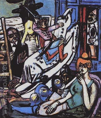Amsterdam and St Loeis - Max Beckmann reproduction oil painting