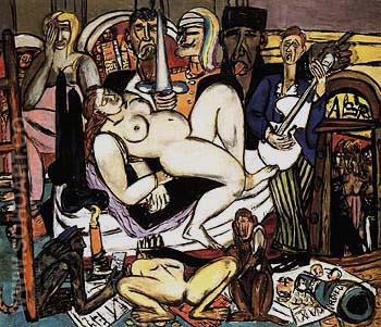 The Town City Night 1950 - Max Beckmann reproduction oil painting