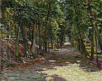 Avenue in the Park St Cloud 1906 - Gabriele Munter reproduction oil painting