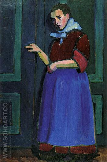 Fraulein Mathilde 1908 - Gabriele Munter reproduction oil painting