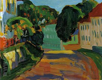 Street in Murnau 1908 - Gabriele Munter reproduction oil painting