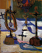 Grave Crosses in Kochel 1909 - Gabriele Munter