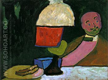 Listening Portrait of Jawlensky 1909 - Gabriele Munter reproduction oil painting