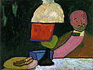 Listening Portrait of Jawlensky 1909 - Gabriele Munter