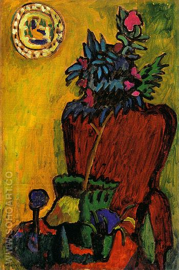 Still Life with Chair 1909 - Gabriele Munter reproduction oil painting