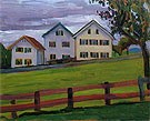 Three Houses in Murnau 1909 - Gabriele Munter reproduction oil painting
