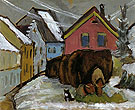 Chaff Wagons 1910 - Gabriele Munter reproduction oil painting