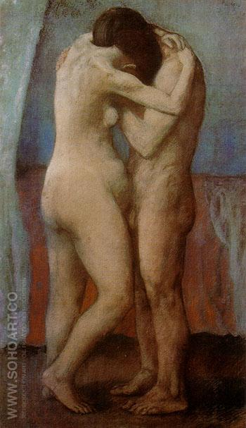 The Embrace 1903 - Pablo Picasso reproduction oil painting