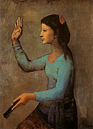 The Woman with a Fan 1905 - Pablo Picasso reproduction oil painting