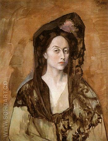 Portrait of Benedetta Canals 1905 - Pablo Picasso reproduction oil painting