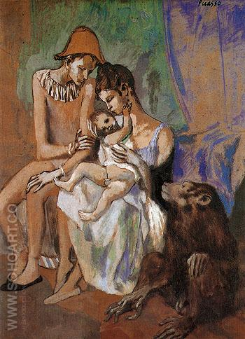 Family of Acrobats 1905 - Pablo Picasso reproduction oil painting