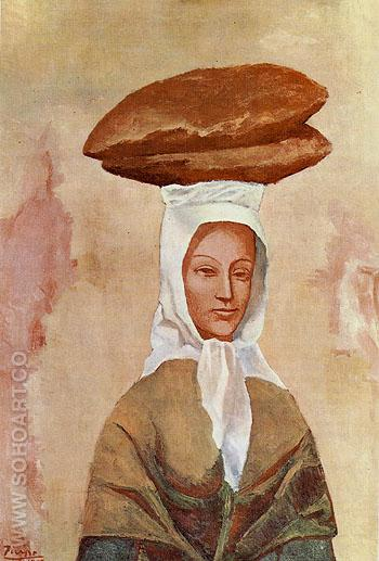 Woman with Loaves 1906 - Pablo Picasso reproduction oil painting