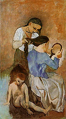 La Coiffure 1906 - Pablo Picasso reproduction oil painting