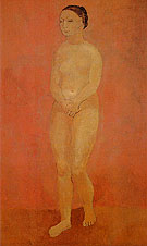 Large Standing Nude 1906 - Pablo Picasso reproduction oil painting