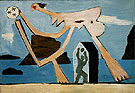 Playing Ball on the Beach - Pablo Picasso reproduction oil painting