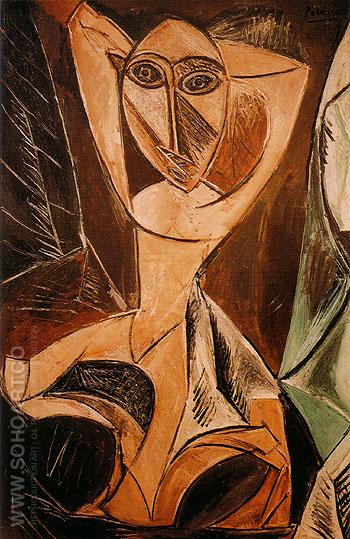 Nude with Raised Arms - Pablo Picasso reproduction oil painting