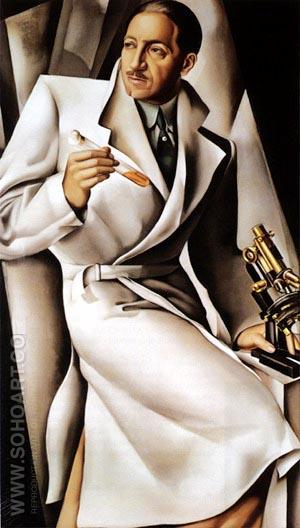 Portrait of Dr Boucard - Tamara de Lempicka reproduction oil painting
