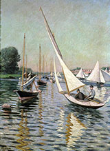 Regatta at Argenteuil 1893 - Gustave Caillebotte reproduction oil painting