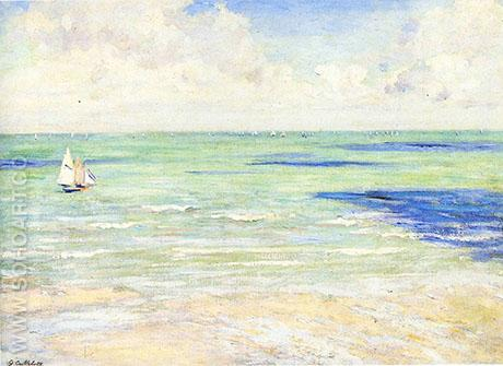 Seascape Regatta at Villiers 1880 - Gustave Caillebotte reproduction oil painting