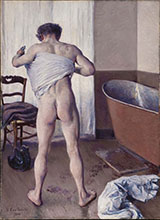 Man at his Bath 1884 - Gustave Caillebotte reproduction oil painting