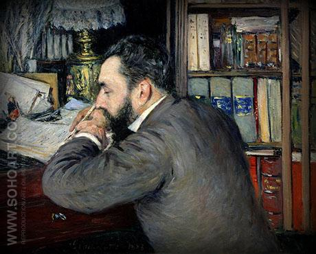 Portrait of Henri Cordier 1883 - Gustave Caillebotte reproduction oil painting