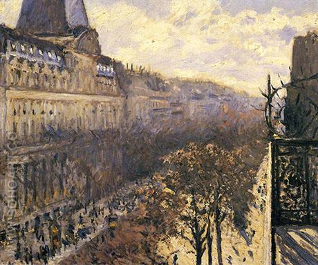 Boulevard des Italiens c1880 - Gustave Caillebotte reproduction oil painting