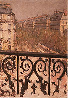 A Balcony in Paris c1880 - Gustave Caillebotte reproduction oil painting