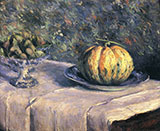 Melon and Bowl of Figs c1880 - Gustave Caillebotte