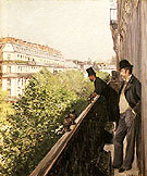 A Balcony 1800 - Gustave Caillebotte
