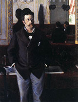 In a Cafe 1880 - Gustave Caillebotte reproduction oil painting