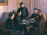 The Bezique Game 1800 - Gustave Caillebotte reproduction oil painting