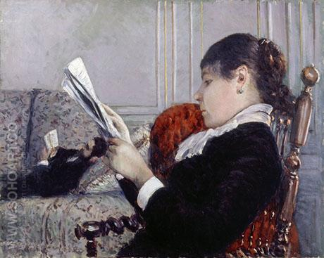 Interior 1880 - Gustave Caillebotte reproduction oil painting