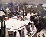 Rooftops Under Snow 1878 - Gustave Caillebotte