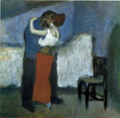 L etreinte Dans la Mansarde 1900 - Pablo Picasso reproduction oil painting
