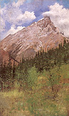 Banff Cascade Mountain 1890 - Frederic Remington reproduction oil painting