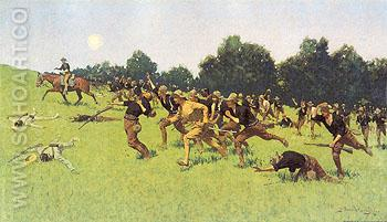 The Charge of the Rough Rider 1898 - Frederic Remington reproduction oil painting