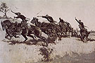 Capt Grimes Battery Going Up El Poso Hill 1894 - Frederic Remington reproduction oil painting