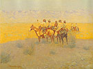 Evening in the Desert Navajoes 1905 - Frederic Remington reproduction oil painting