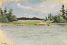 Chippewa Bay 1888 - Frederic Remington reproduction oil painting